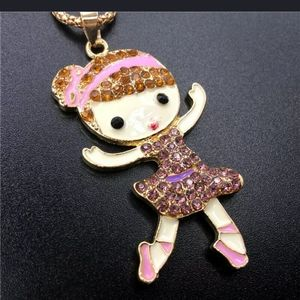 Girl pendant fashion unbranded necklace je…